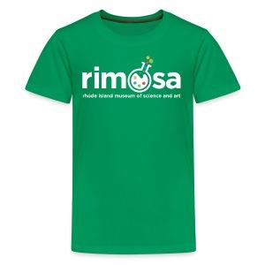 RIMOSA - White Logo w. Museum Full Name - Kids' Premium T-Shirt