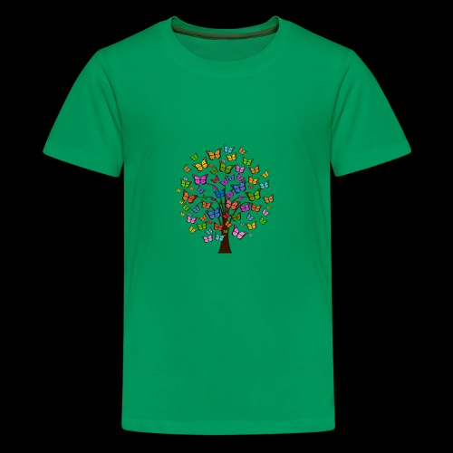 Cute colorful butterfly tree - Kids' Premium T-Shirt