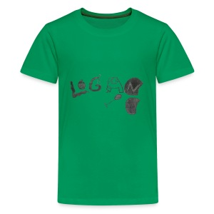 Hand Drawn Halloween Themed Logo - Kids' Premium T-Shirt