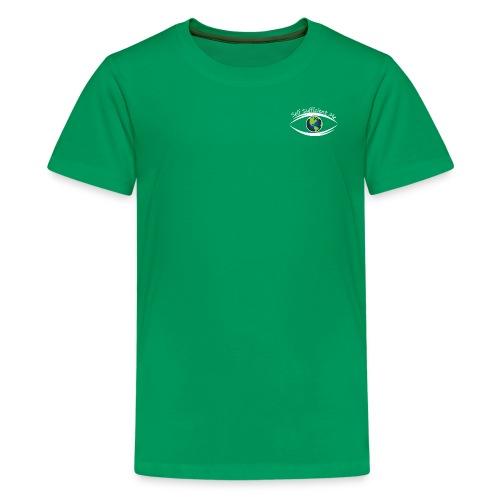 Self Sufficient Me Logo white small coy design - Kids' Premium T-Shirt
