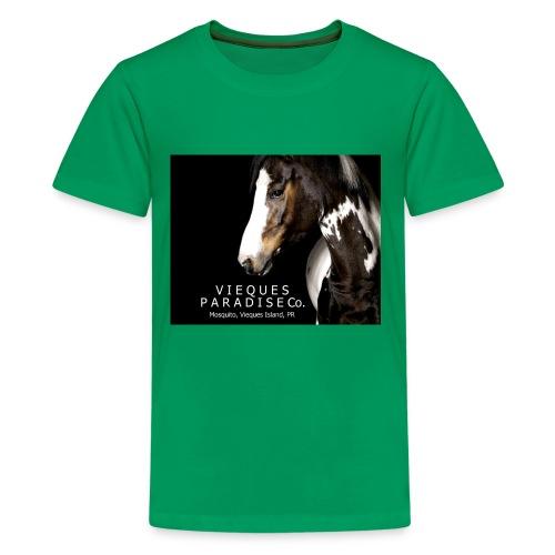 vieques island paradise horse poster - Kids' Premium T-Shirt