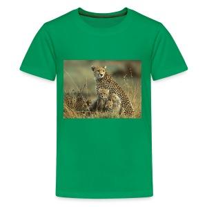 cheetah mother and cubs - Kids' Premium T-Shirt