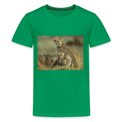 cheetah mother and cubs - Kids' Premium T-Shirt