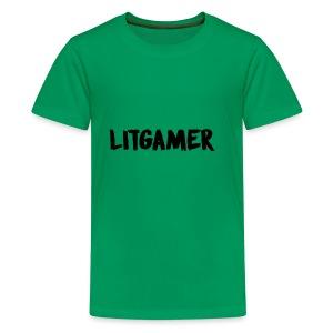 LITGAMER MERCH FIRE - Kids' Premium T-Shirt