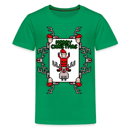 Merry Christmas Santa and Rudolph - Kids' Premium T-Shirt