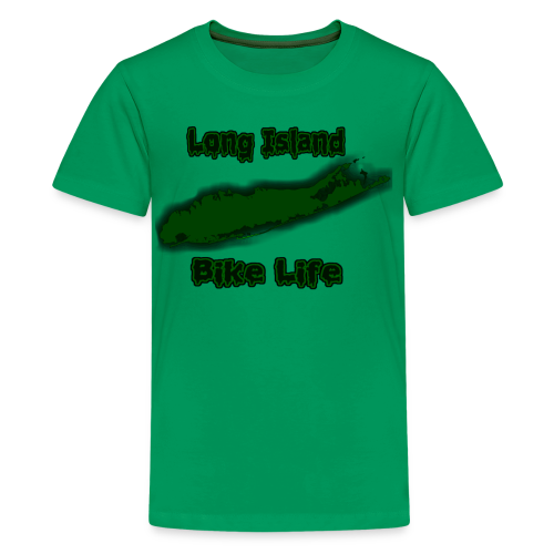 Long Island Bike Life (GREEN) - Kids' Premium T-Shirt