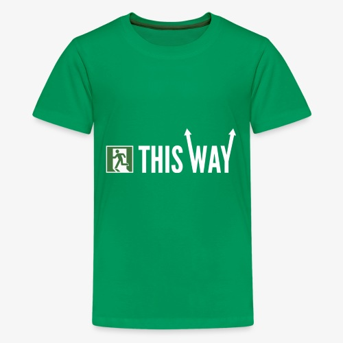 Please Exit This Way - Kids' Premium T-Shirt