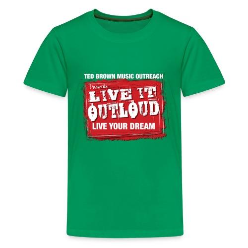 Live It OutLoud Logo - Kids' Premium T-Shirt