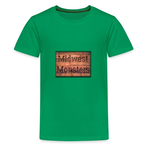 Midwest Monsters Wood Logo - Kids' Premium T-Shirt
