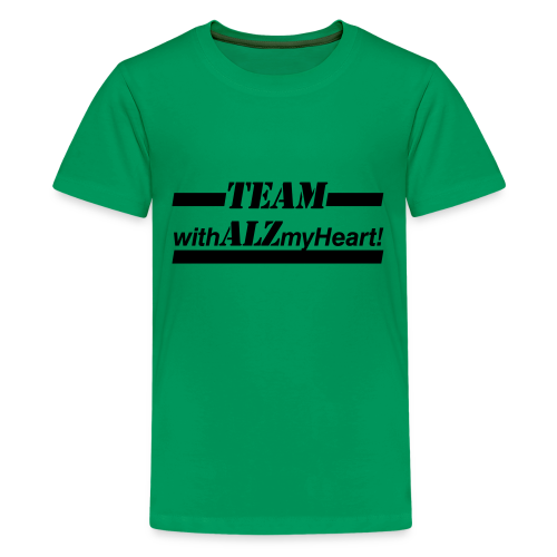 Team withALZmyHeart Logo Wear - Kids' Premium T-Shirt