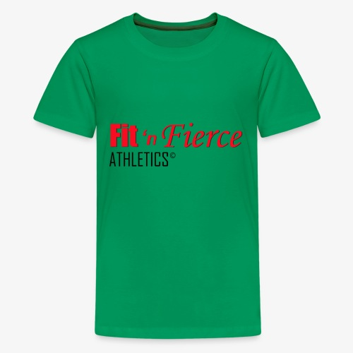 Fit 'n Fierce name only - Kids' Premium T-Shirt