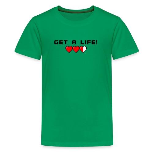 GET A LIFE Hearts Shirt - Kids' Premium T-Shirt