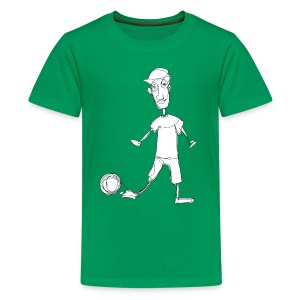 Footballer, hand painted by one line - Kids' Premium T-Shirt