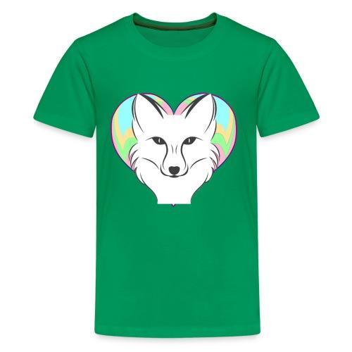 Fire Heart Fox - Kids' Premium T-Shirt