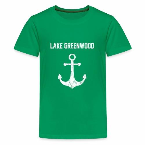 Lake Greenwood South Carolina Anchor Design - Kids' Premium T-Shirt