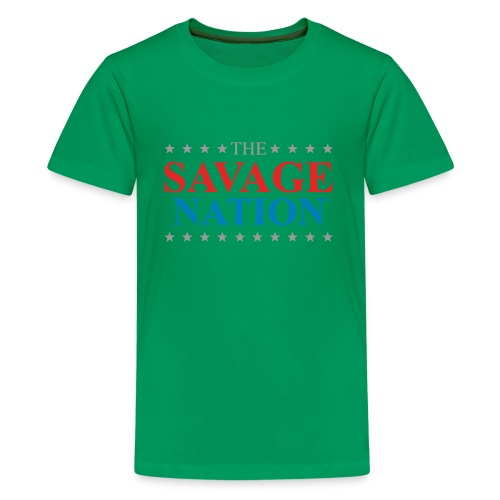 The Savage Nation Logo sch - Kids' Premium T-Shirt
