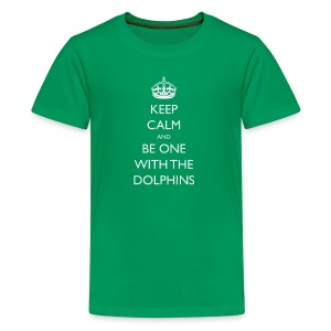 Keep Calm and Be One With The Dolphins Tshirts - Kids' Premium T-Shirt