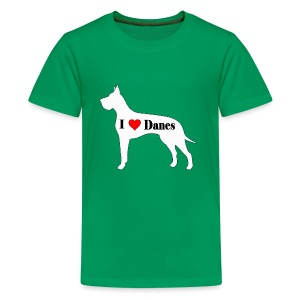 Great Dane (I heart Danes) - Kids' Premium T-Shirt