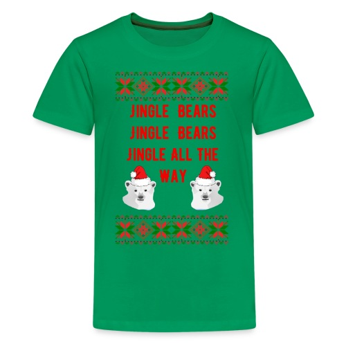 Jingle Bear (Red Text) - Kids' Premium T-Shirt