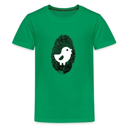 Chick Finger Print - Kids' Premium T-Shirt