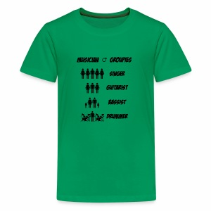 Male Musician Groupies Black Logo - Kids' Premium T-Shirt