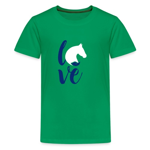 love logo sbf dblue white - Kids' Premium T-Shirt