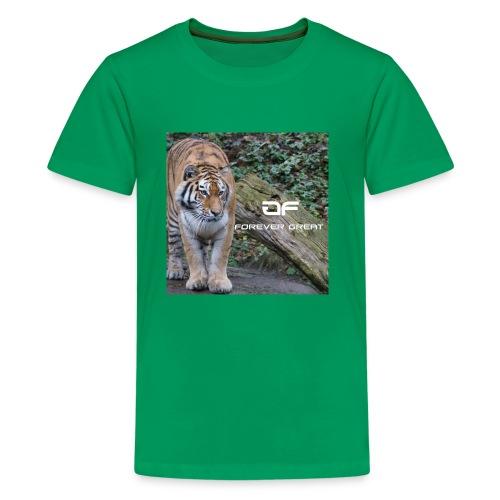Forever Great tiger design - Kids' Premium T-Shirt