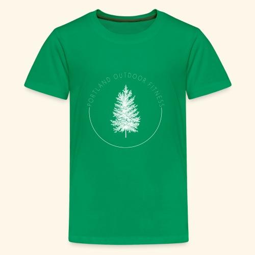 Circle Logo White - Kids' Premium T-Shirt