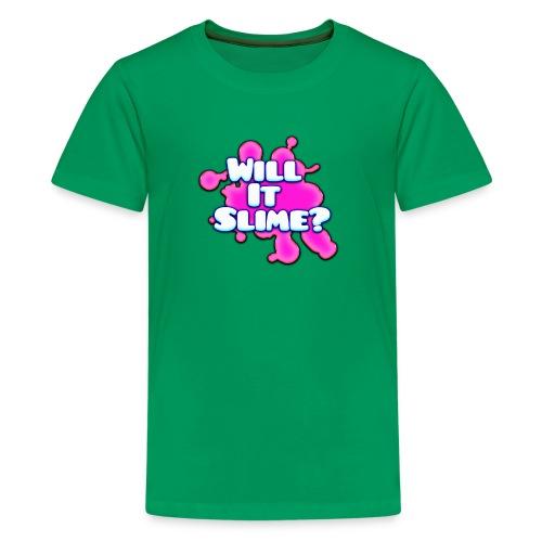 Pink Will It Slime Logo - Kids' Premium T-Shirt