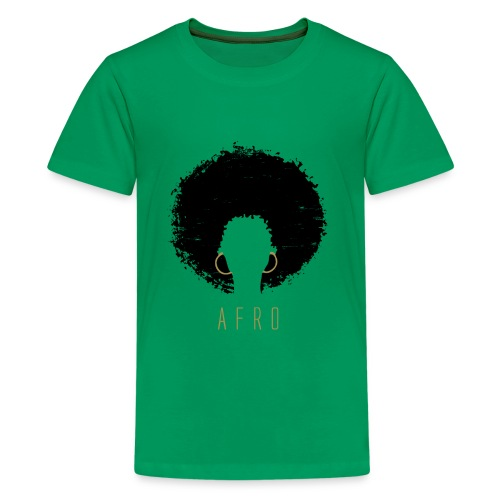 Black Afro American Latina Natural Hair - Kids' Premium T-Shirt