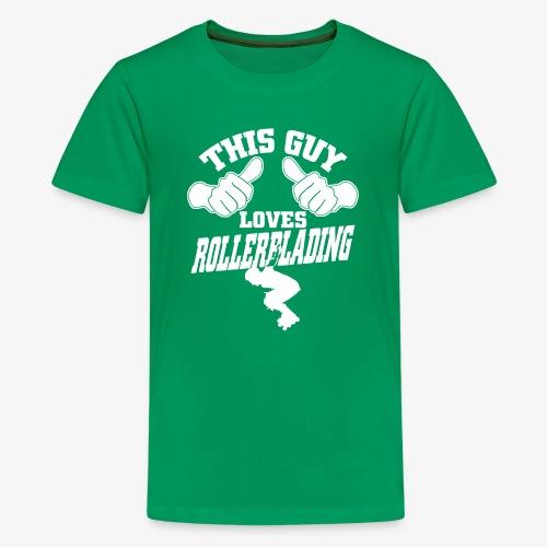 This guy loves rollerblading - Kids' Premium T-Shirt