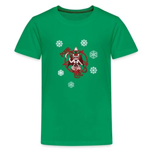 Purr evil Christmas pixel art cat - Kids' Premium T-Shirt