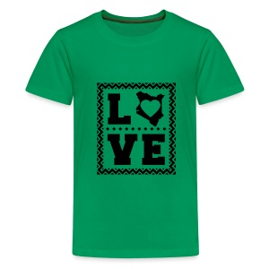 love kenya Black - Kids' Premium T-Shirt