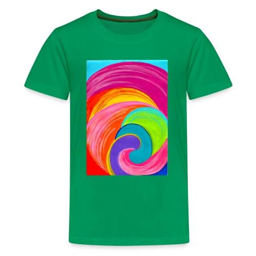Colorful rainbow swirl - Kids' Premium T-Shirt
