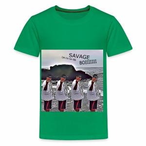 The Savage Boi Cam on the Beach - Kids' Premium T-Shirt