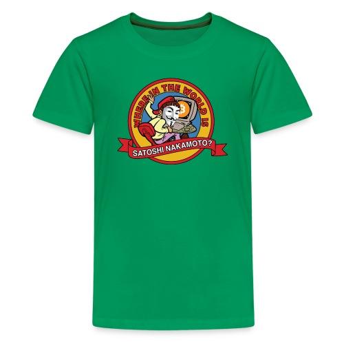 Where In The World Is Satoshi Nakamoto? - Kids' Premium T-Shirt
