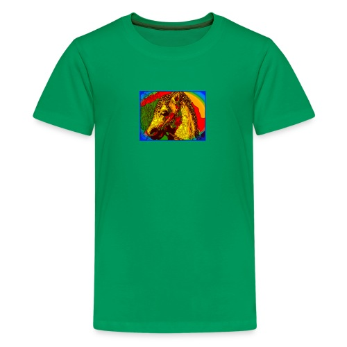 Rainbow Vintage Toy Riding Wonder Horse - Kids' Premium T-Shirt