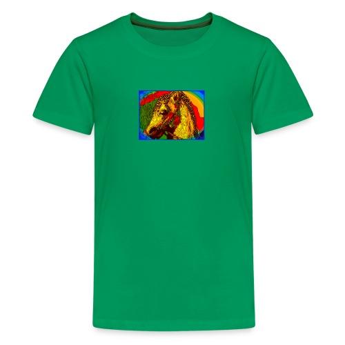 Rainbow Vintage Toy Riding Wonder Horse - Kids' Premium T-Shirt