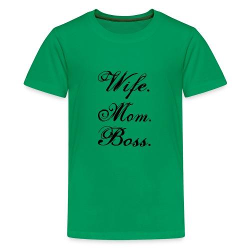 wife mom boss - Kids' Premium T-Shirt