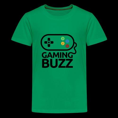 Gaming Buzz Logo - Black - Kids' Premium T-Shirt