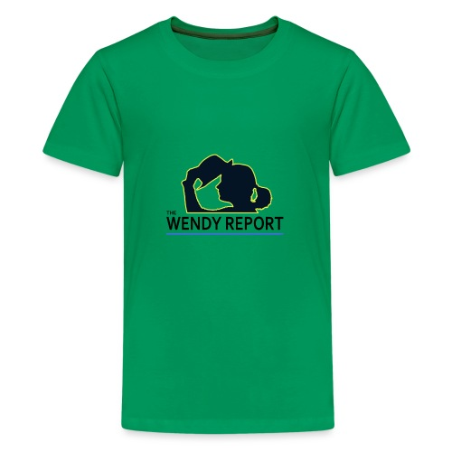 The Wendy Report Logo - Black - Kids' Premium T-Shirt