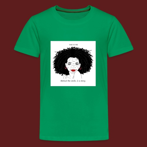 A T-shirt design all women can relate to. - Kids' Premium T-Shirt