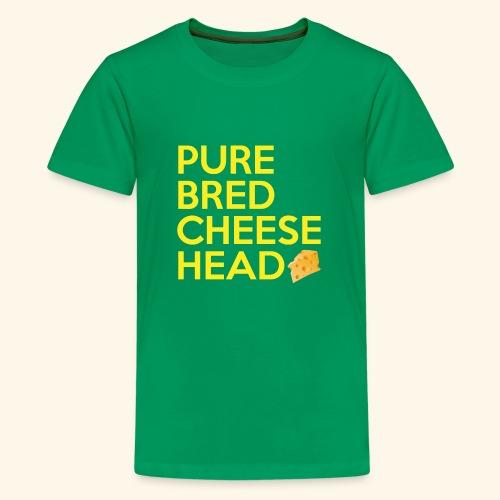 Pure Bred Cheese Head - Kids' Premium T-Shirt