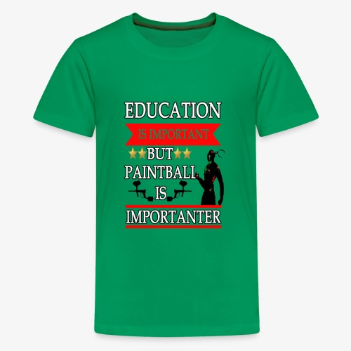 Education is Important but paintball is importante - Kids' Premium T-Shirt