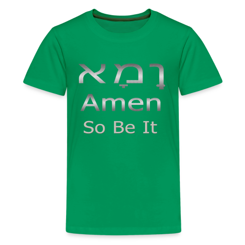Cool Christian Amen So Be It Hebrew Letters - Kids' Premium T-Shirt