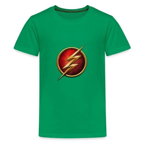 the_flash_logo_by_tremretr-d8uy5gu - Kids' Premium T-Shirt
