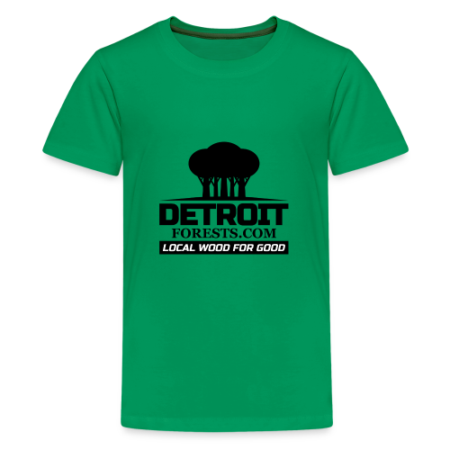 Great Lakes Forest | Detroit Forests Black Logo - Kids' Premium T-Shirt