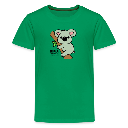 Koala Cute. Art by Paul Bass, assisted by Mollie. - Kids' Premium T-Shirt