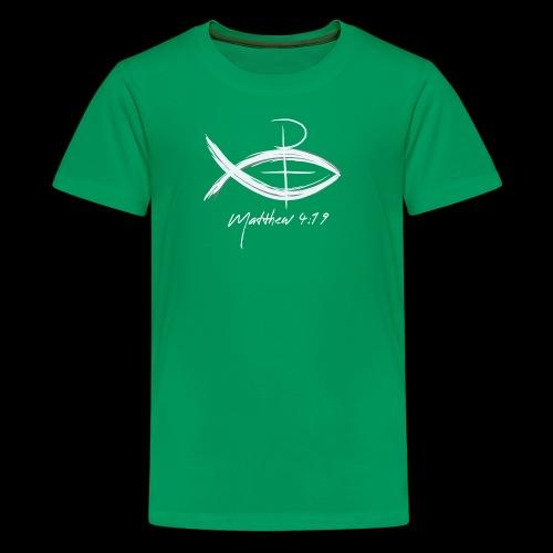 Fish Cross Matthew 4:19 - Kids' Premium T-Shirt