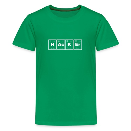 HAcKEr (White) - Kids' Premium T-Shirt